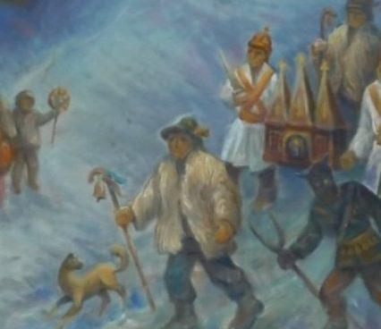 «Різдвяну виставку» художніх полотен відкрили в Ужгороді