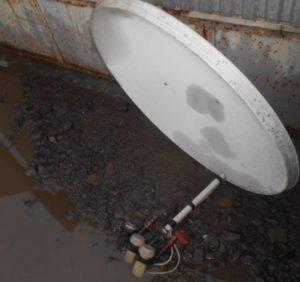 У  Сваляві крадій «прихопив» супутникову антену