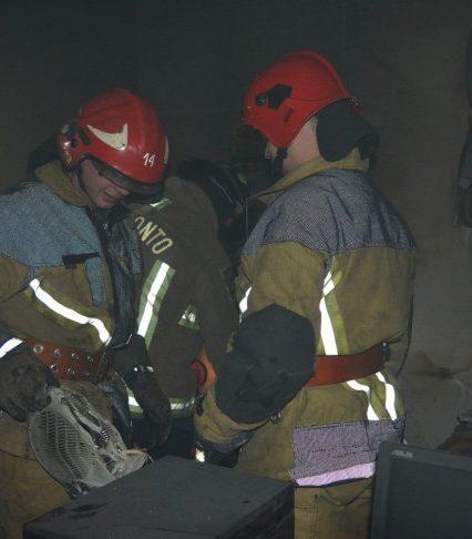 В Ужгороді вогнеборці ліквідували пожежу в приміщенні Держекоінспекції