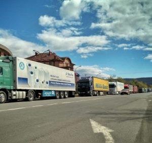 Увага! Тимчасове припинення руху вантажних авто у пункті пропуску «Ужгород-Вишнє Нємецьке»