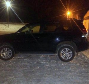 Викрадений на Виноградівщині «Toyota Land Cruiser» затримали прикордонники у Чопі