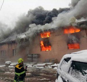 На Тячівщині згорів торговий центр (ФОТО, ВІДЕО)