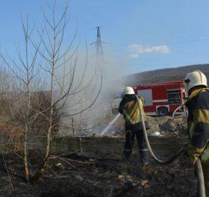 У Мукачівському районі під час спалювання сухої трави травмувалась жінка