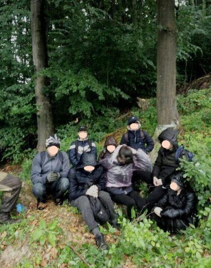 Дев'ятьох нелегальних мігрантів затримали прикордонники на Закарпатті