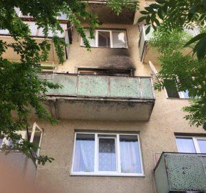Мукачівські рятувальники ліквідували пожежу на балконі п'ятиповерхівки