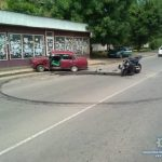 87-річний водій на Жигулі «підрізав» мотоцикліста. Байкер потрапив до лікарні