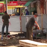 Чергова сумнівна забудова громадського простору повстає в місті Ужгород (фото)