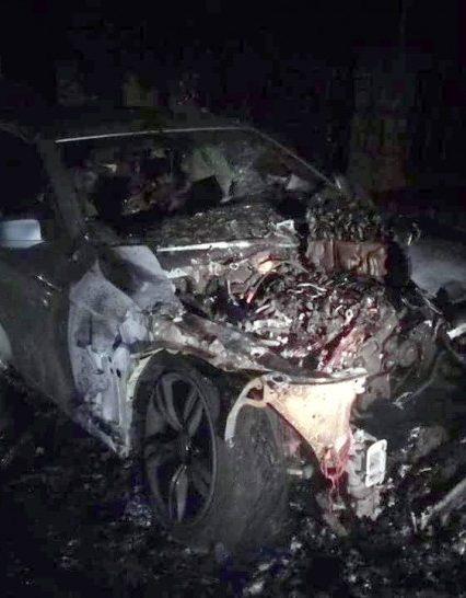 Упродовж доби на Закарпатті горіли три автомобілі (фото)