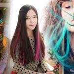 Преимущества цветных прядей для волос