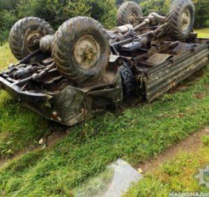 На Міжгірщині перекинувся вантажний «ГАЗ-66» – водій загинув