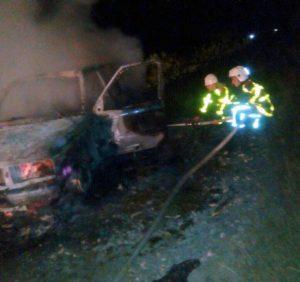 У Хустському районі пожежа знищила Range Rover