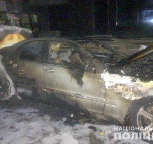 Вночі в Ужгороді згорів «Mersedes». Поліція розпочала слідство