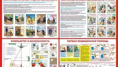 Оформление плакатов по охране труда на предприятиях