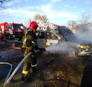 В Ужгороді під час руху спалахнув Ford Mondeo
