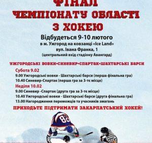 В Ужгороді на вихідних відбудеться фінальний етап VIII Чемпіонату області з хокею