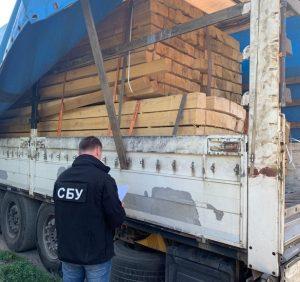 На Закарпатті прокуратура спільно з СБУ припинили схему незаконного вивезення деревини за кордон (ФОТО)
