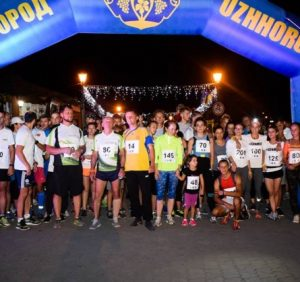 Нічний забіг відбувся в Ужгороді до Дня міста (відео)