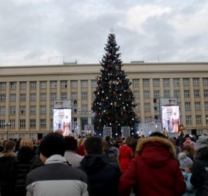Засяяла головна різдвяно-новорічна ялинка Закарпаття (фото)
