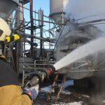 В Ужгороді рятувальники ліквідували пожежу на підприємстві (фото)