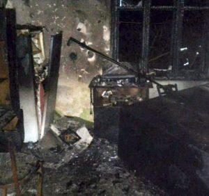 На Великоберезнянщині через необережне поводження з вогнем виникла пожежа