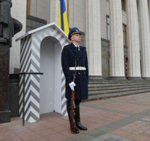 Біля будівлі Верховної Ради України нестиме службу Почесна варта Національної гвардії України (фото)