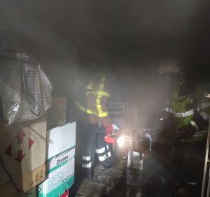 Вночі у Хусті горіло офісне приміщення (фото)