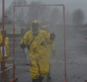 На Закарпатті рятувальники провели спеціальні тренування для фахівців групи радіаційного та хімічного захисту (фото)