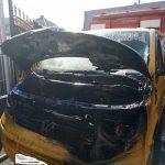 Виноградівські вогнеборці врятували мікроавтобус від знищення пожежею