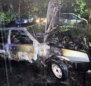 Минулої ночі закарпатські вогнеборці двічі ліквідовували загорання легкових автомобілів