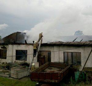 На Виноградівщині пожежа знищила складське приміщення (фото)