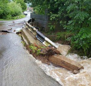 Внаслідок зливових дощів підтоплено дворогосподарства на Свалявщині та Мукачівщині
