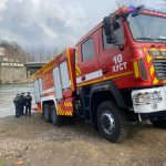 Хустські рятувальники протестували новий пожежно-рятувальний автомобіль